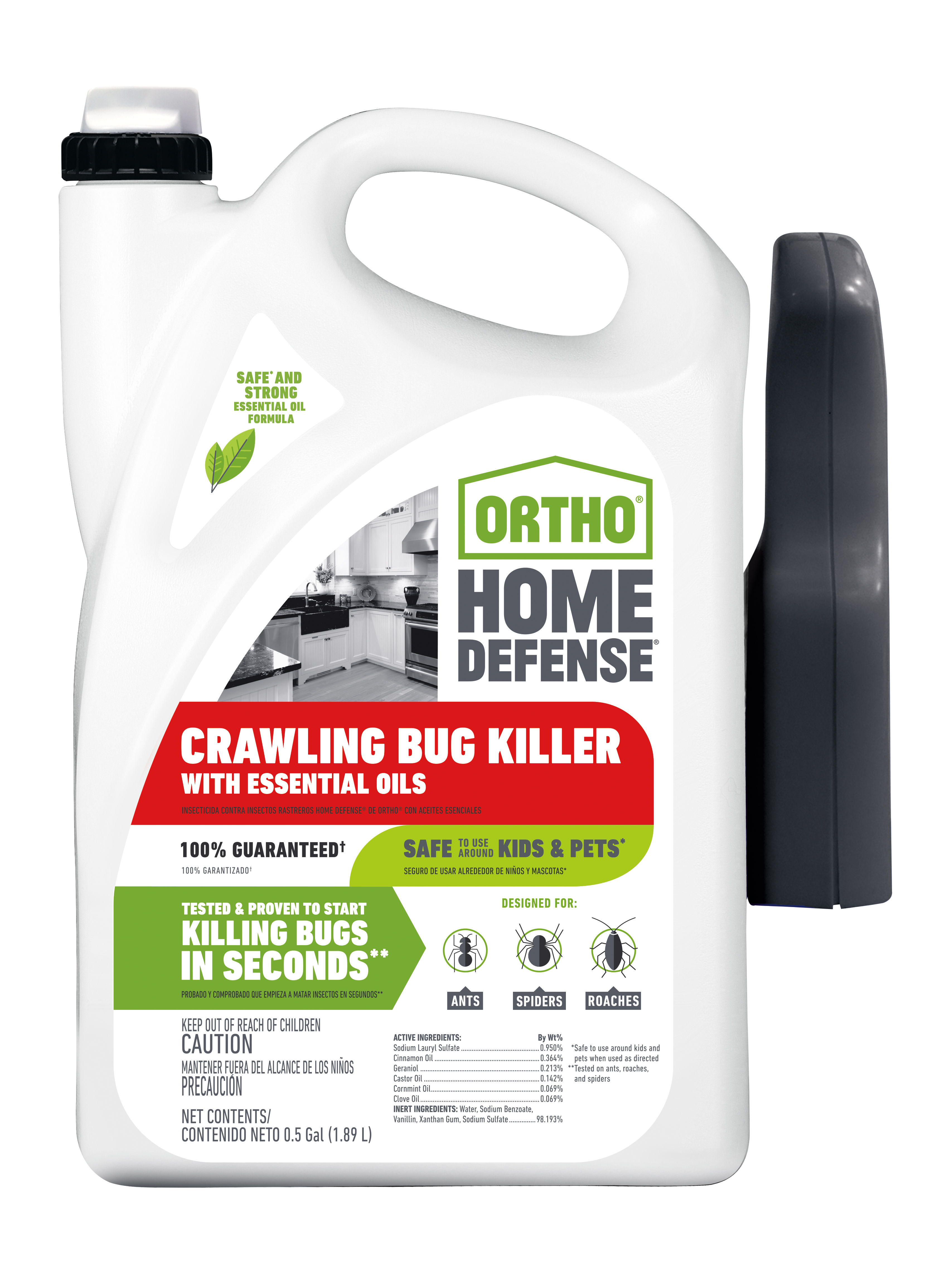 Ortho Home Defense Crawling Bug Killer With Essential