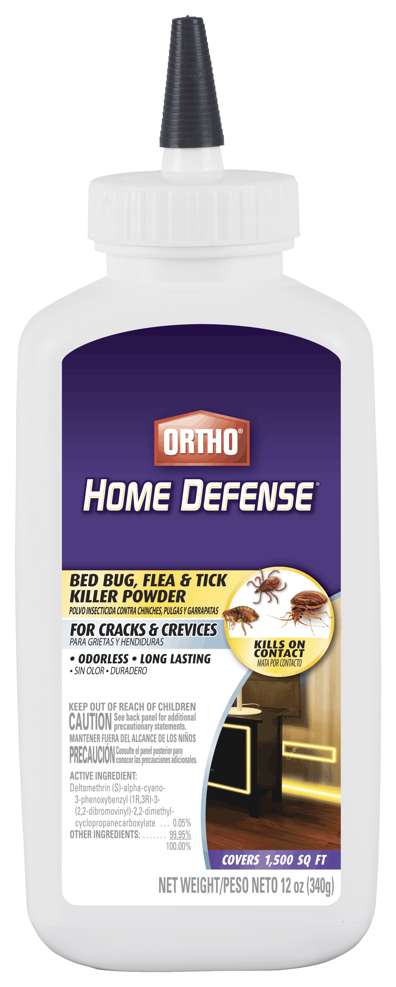 Ortho Home Defense Bed Bug Flea Tick Killer Powder Ortho