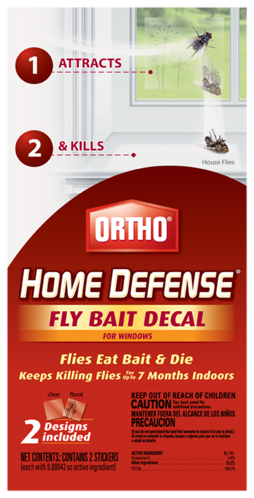 Ortho Home Defense Fly Bait Decal For Windows Indoor Insect