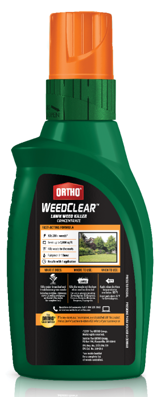 Ortho® WeedClear™ Lawn Weed Killer Concentrate Back