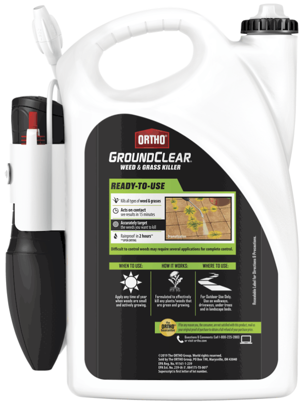 Ortho® Groundclear® Weed & Grass Killer Ready-to-Use with Comfort Wand Back
