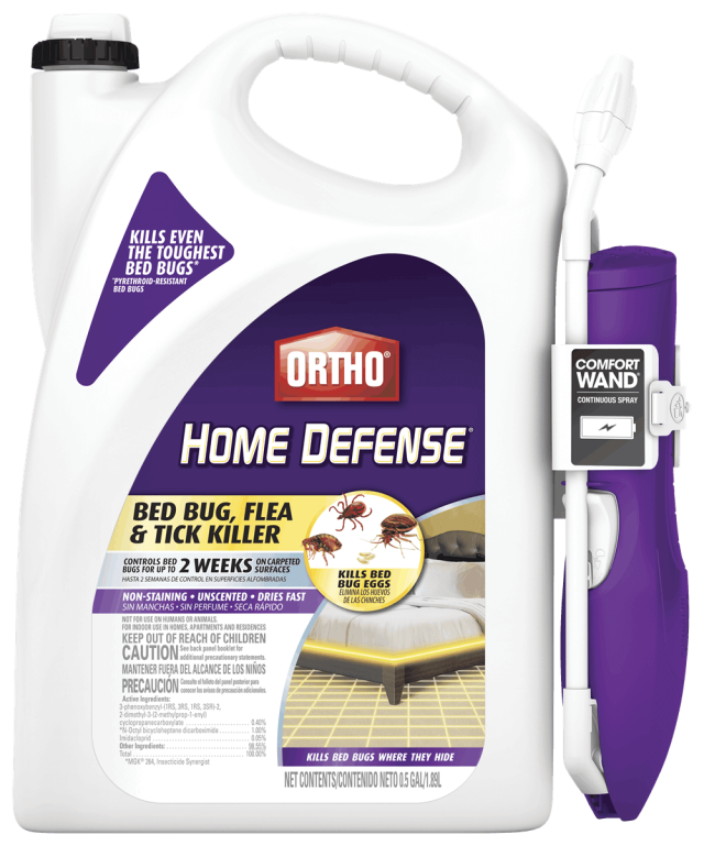 Container of Ortho Home Defense Bed Bug, Flea & Tick Killer