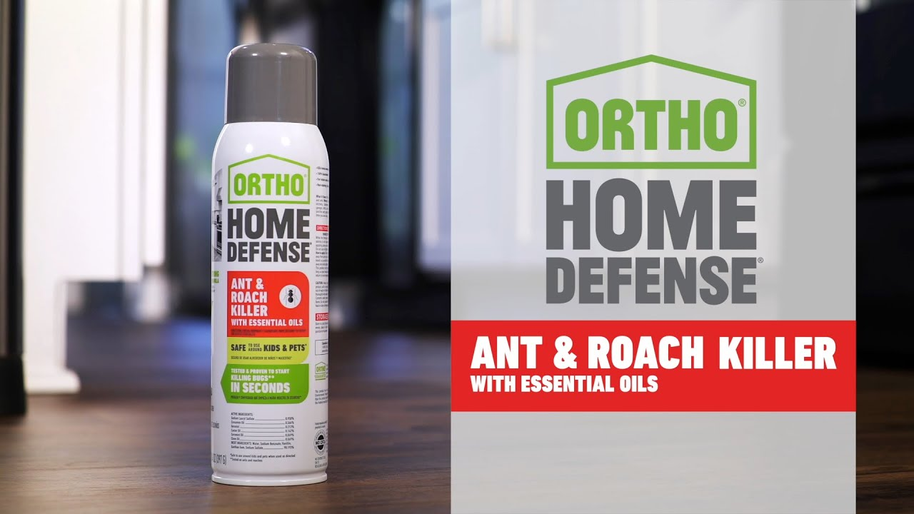Ortho® Home Defense® Ant & Roach Killer with Essential Oils - Ortho